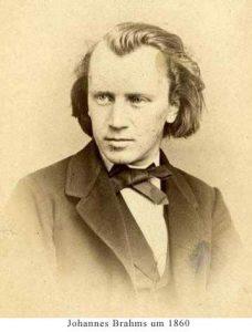Johannes Brahms um 1860